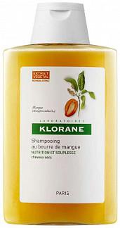 Клоран шампунь для сухих и поврежденных волос с маслом манго 400мл