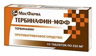 Тербинафин-мфф 250мг 10 шт. таблетки