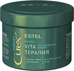 Эстель карекс терапи маска для поврежденных волос восстановление/питание 500мл
