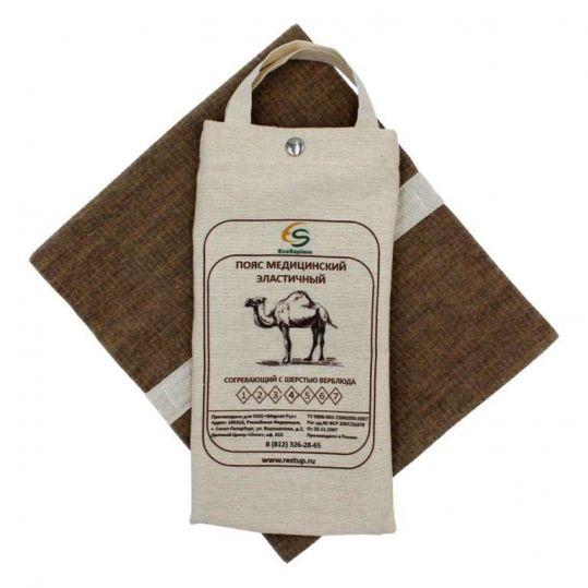 Альмед пояс эластичный согревающий с шерстью верблюда размер 3/м (76-81см), фото №1