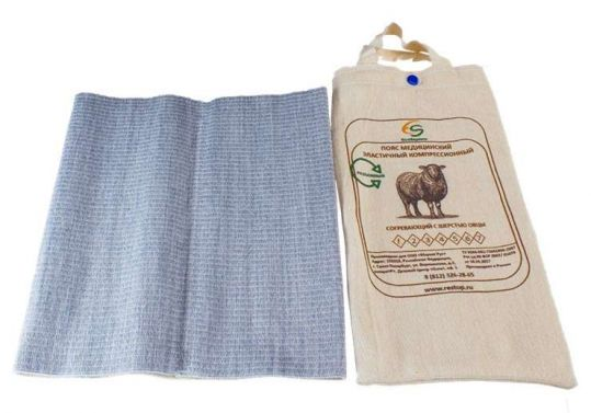 Альмед пояс эластичный согревающий с шерстью овцы разъемный размер 3/м (76-81см), фото №1