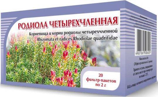 Родиола четырехчленная (красная щетка) фиточай 20 шт. фильтр-пакет, фото №1
