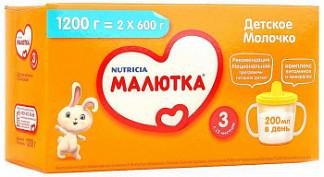 Малютка 3 молочко детское с 12 месяцев 1200г