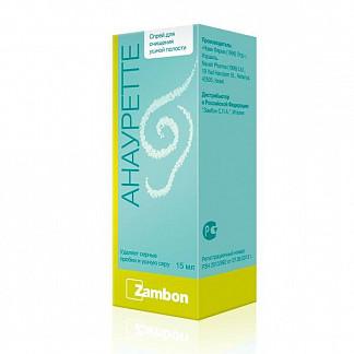 Анауретте спрей для местного применения для очищения ушной полости 15мл