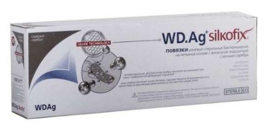 Силкофикс wd ag повязка стерильная на нетканой основе с сорбционной подушечкой 8,25х10см 1 шт. фармапласт, фото №1