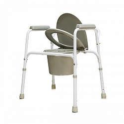 Амрус кресло-туалет amсв6803 стальное со спинкой