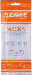 Сенс маска медицинская трехслойная на резинке 5 шт.