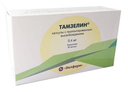 Тамзелин 0,4мг 30 шт. капсулы пролонгированного действия велфарм, фото №1