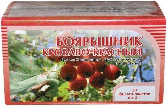Боярышник цветки 20 шт. фильтр-пакет, фото №1