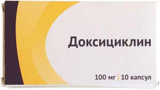 Доксициклин 100мг 10 шт. капсулы, фото №1