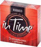 Ин тайм презервативы ребристые 3 шт.