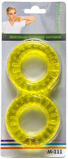 Массажер эспандер кистевой м-111 пара 7см желтый