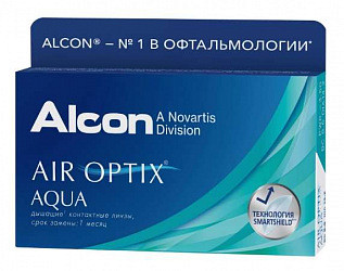 Эйр оптикс аква линзы контактные мягкие bc 8.6 d-1,50 3 шт.