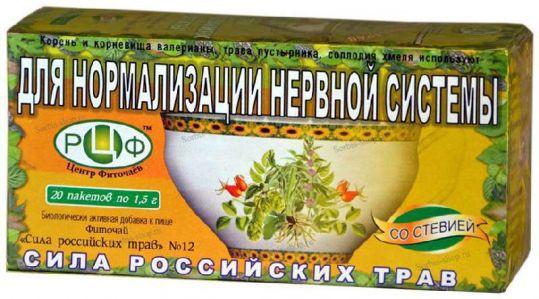 Сила российских трав фиточай n12 для нормализации нервной системы n20, фото №1