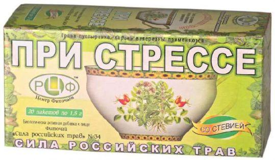 Сила российских трав фиточай n34 от стресса n20 фильтр-пакет, фото №1
