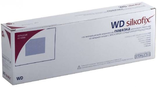 Силкофикс wd повязка стерильная на нетканой основе с сорбционной подушечкой 20х10см фармапласт, фото №1