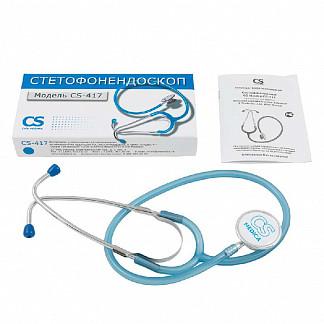 Сиэс медика стетофонедоскоп cs-417 голубой