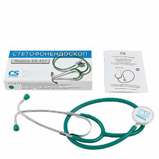 Сиэс медика стетофонедоскоп cs-417 зеленый
