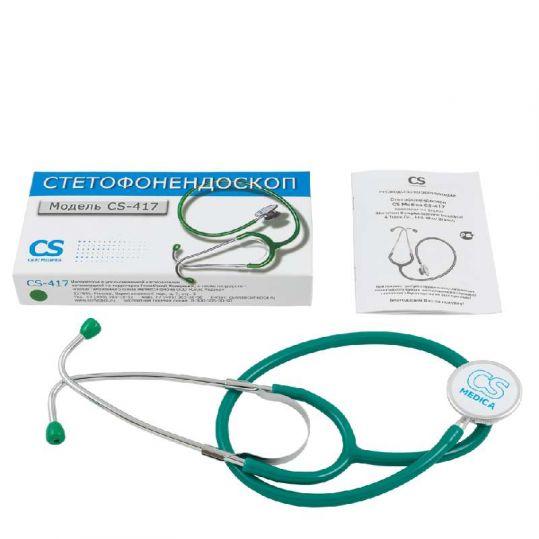 Сиэс медика стетофонедоскоп cs-417 зеленый, фото №1