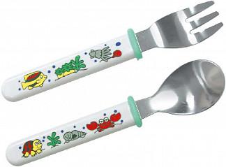 Сказка набор для детей для кормления вилочка + ложка арт.2261