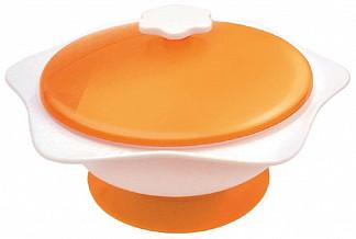 Сказка тарелка для кормления на присоске с крышкой арт.2217
