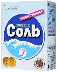 Соль пищевая йодированная 350г (валетек)