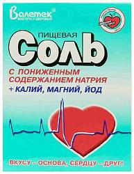 Соль пищевая с пониж na+к,mg,йод 350г
