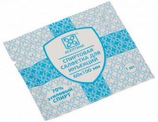 Асептика салфетка для инъекций 60х100мм 400 шт.