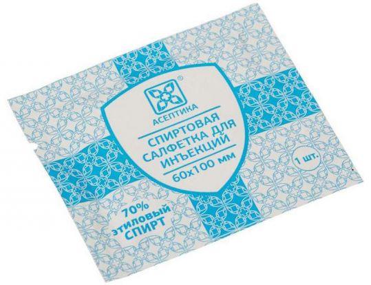Асептика салфетка для инъекций 60х100мм 400 шт., фото №1