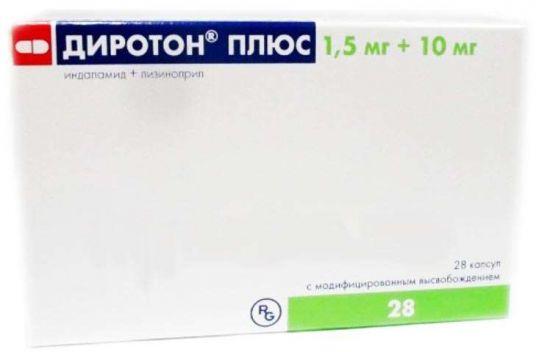 Диротон плюс 1,5мг+10мг 28 шт. капсулы с модифицированным высвобождением, фото №1