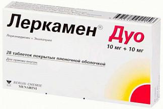 Леркамен дуо 10мг+10мг 28 шт. таблетки покрытые пленочной оболочкой