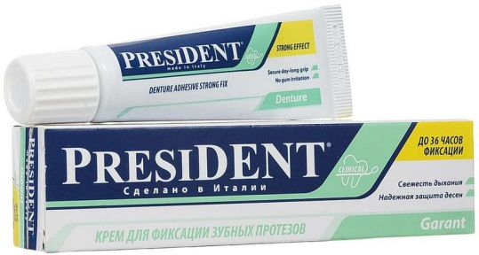 Президент гарант крем для фиксации зубных протезов 20г, фото №1