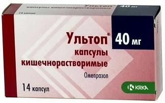 Ультоп 40мг 14 шт. капсулы кишечнорастворимые