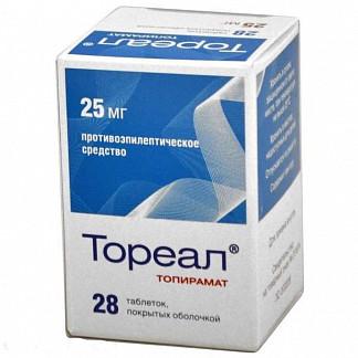 Тореал 25мг 28 шт. таблетки покрытые оболочкой