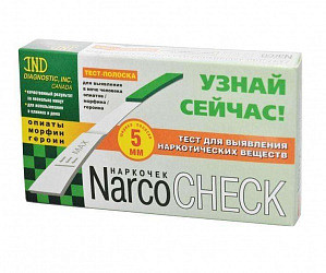 Тест narcochek для опред.опиаты/морфин/гер