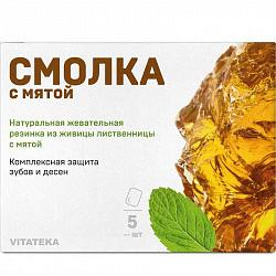Витатека смолка жевательная лиственничная мята 0,8г 5 шт.