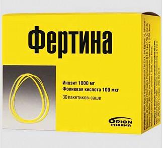 Фертина инозит 1000мг фолиевая 100мкг саше 3г 30 шт.