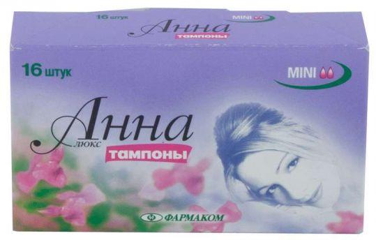 Анна тампоны люкс мини 16 шт., фото №1