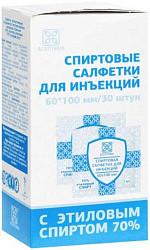 Асептика салфетка спиртовая для инъекций 60х100мм 30 шт.