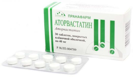 Аторвастатин 40мг 30 шт. таблетки покрытые пленочной оболочкой пранафарм, фото №1