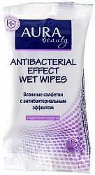 Аура салфетки влажные антибактериальные 15 шт.