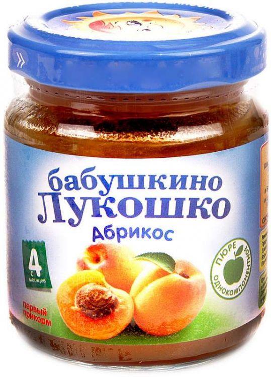Бабушкино лукошко пюре абрикос 4+ 100г, фото №1