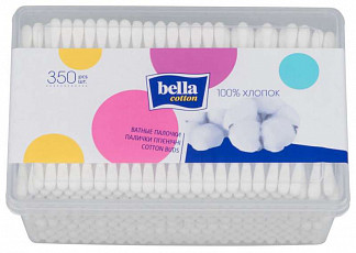 Белла коттон ватные палочки банка 350 шт.