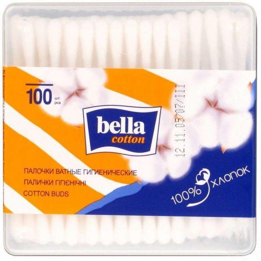 Белла коттон ватные палочки квадратная упаковка 100 шт., фото №1
