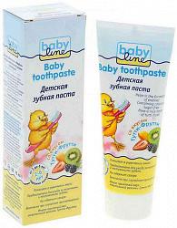Бэбилайн зубная паста жевательные резин (тутти-фрутти) 2-6лет 75мл