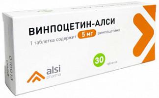Винпоцетин-алси 5мг 30 шт. таблетки