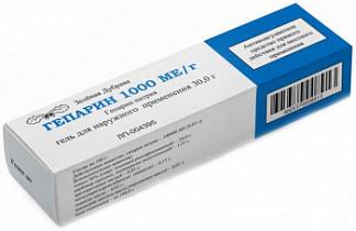 Гепарин 1000ме/г 30г гель для наружного применения