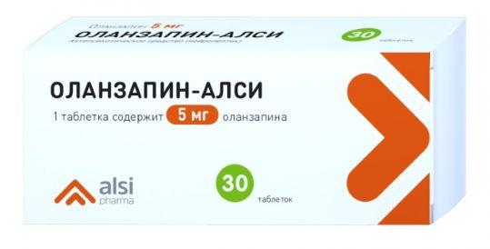 Оланзапин-алси 5мг 30 шт. таблетки, фото №1