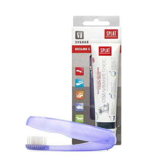Сплат профешнл набор дорожный зубная паста отбеливание плюс 40мл+зубная щетка, фото №1