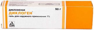 Диклоген 1% 50г гель для наружного применения